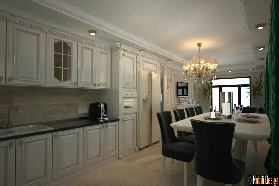 iç tasarım mutfak ev craiova | Mutfak tasarımı klasik ev Craiova.