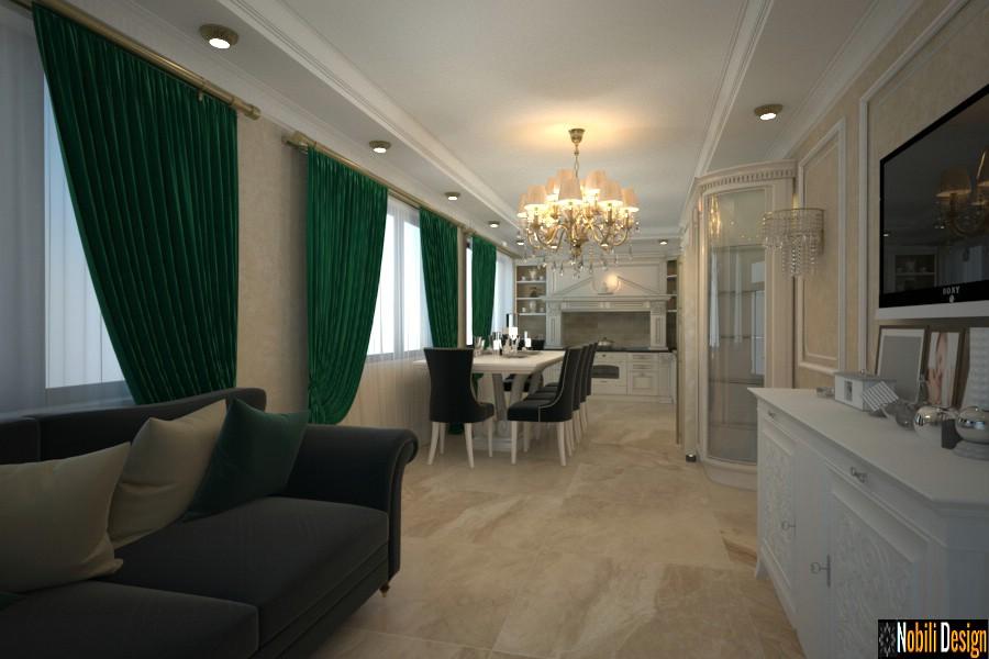 design interior bucatarii clasice de lux.