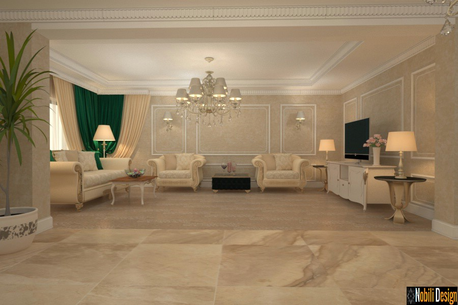 Interior design for the classic luxury villa