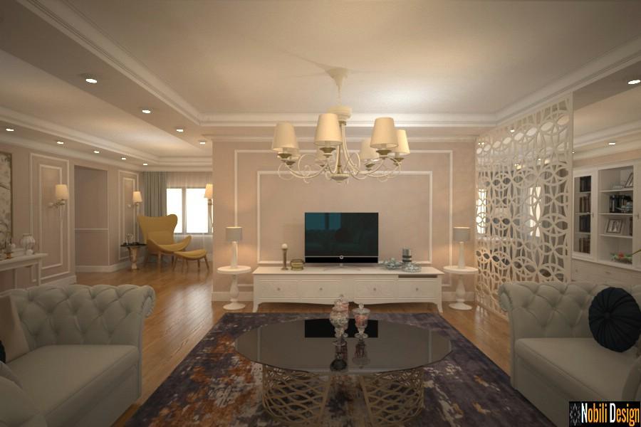 Concept de design interior pentru casa stil new clasic