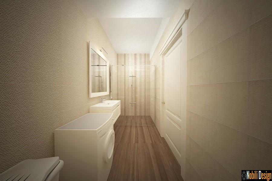 Diseño de interiores baño moderno de la casa de Targoviste.