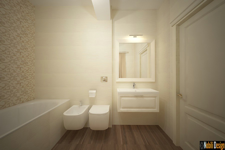 Diseño de interiores clásico moderno de la casa targoviste | Casa de baño de diseño de interiores Targoviste.