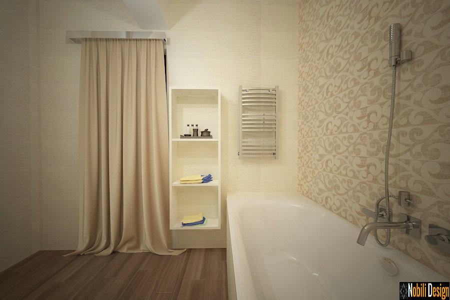 Models of classical modern bathrooms with tiles and tiles Targoviste.