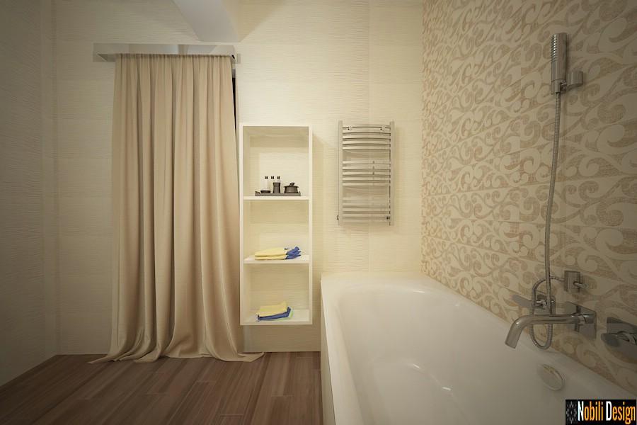 Modelos de baños modernos clásicos con azulejos y baldosas de Targoviste.