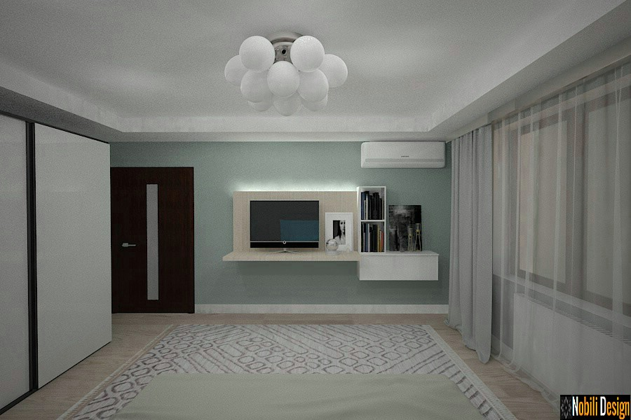 Modern bedroom design | Interior design Constanta.