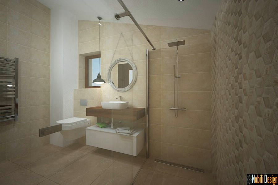 Modern bathroom interior design price Bathroom decorated in modern style.