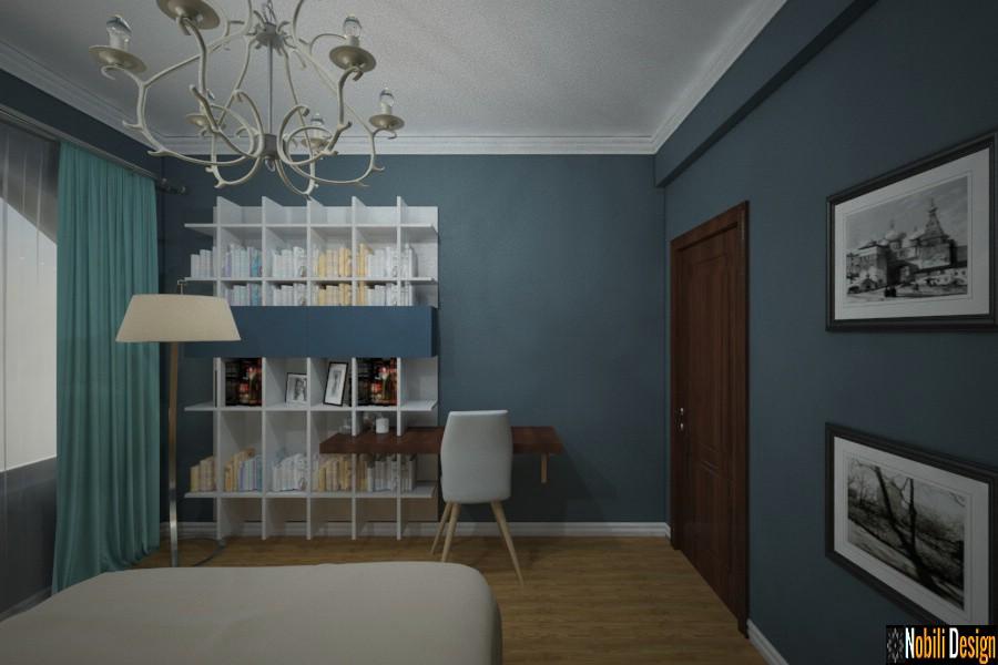 slaapkamer moderne huisreëling met boonste verdieping | Binneontwerp Urziceni Roemenië.