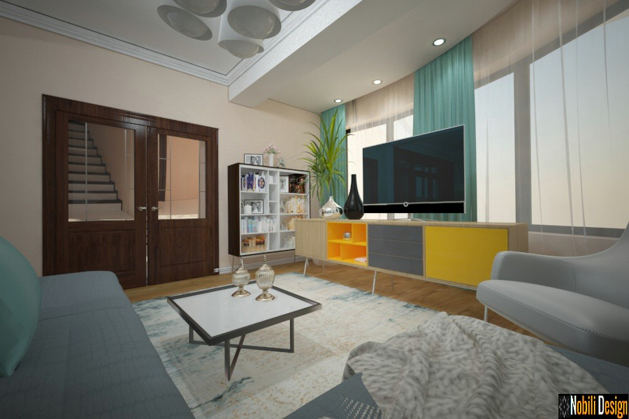 Diseño de interiores de la casa moderna Urziceni | Diseñador de interiores Urziceni precio.
