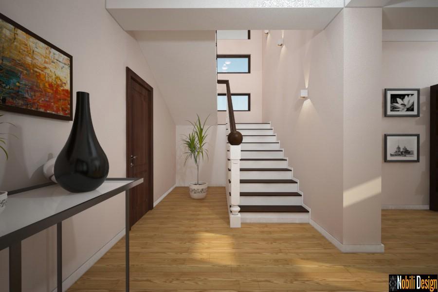 design interior hol casa moderna cu mansarda | Amenajare hol casa Urziceni Ialomita.