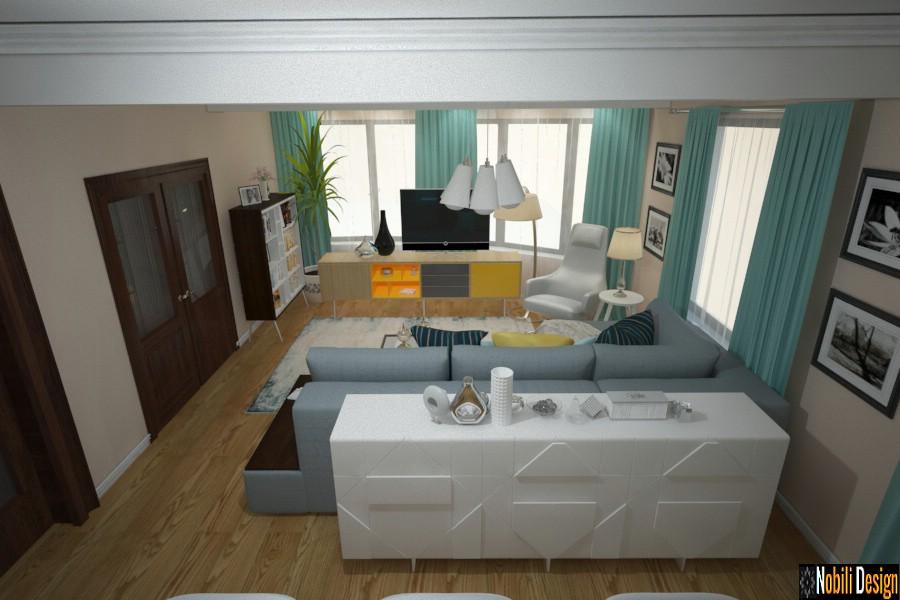 design de interiores sala de estar com piso Urziceni | Casa moderna Urziceni.