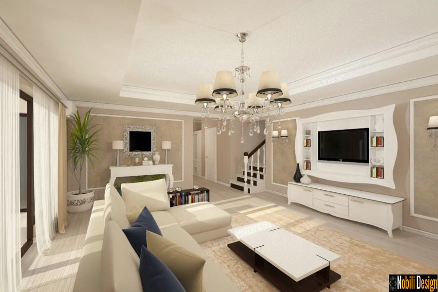 design interior case stil clasic cu etaj