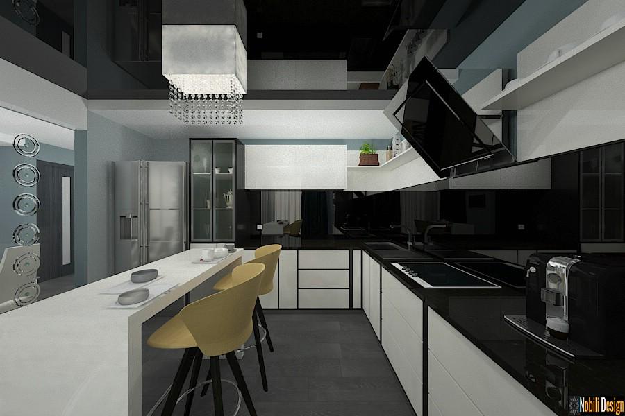 Amenajari interioare bucatarie casa moderna bucuresti 2017.