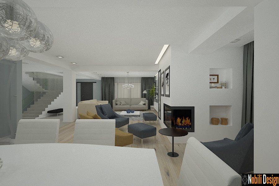 Modern evlerin iç tasarımı.