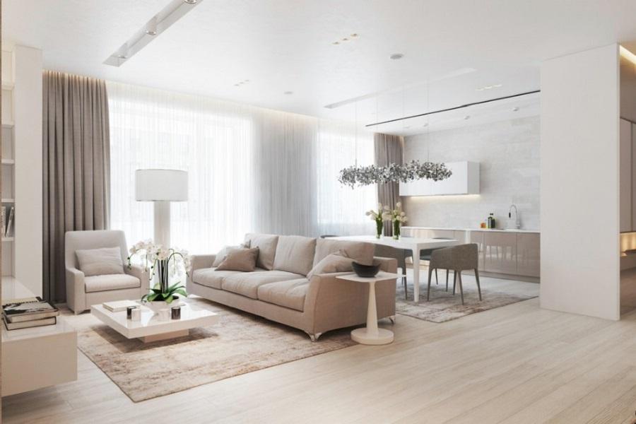 Design interior living contemporan