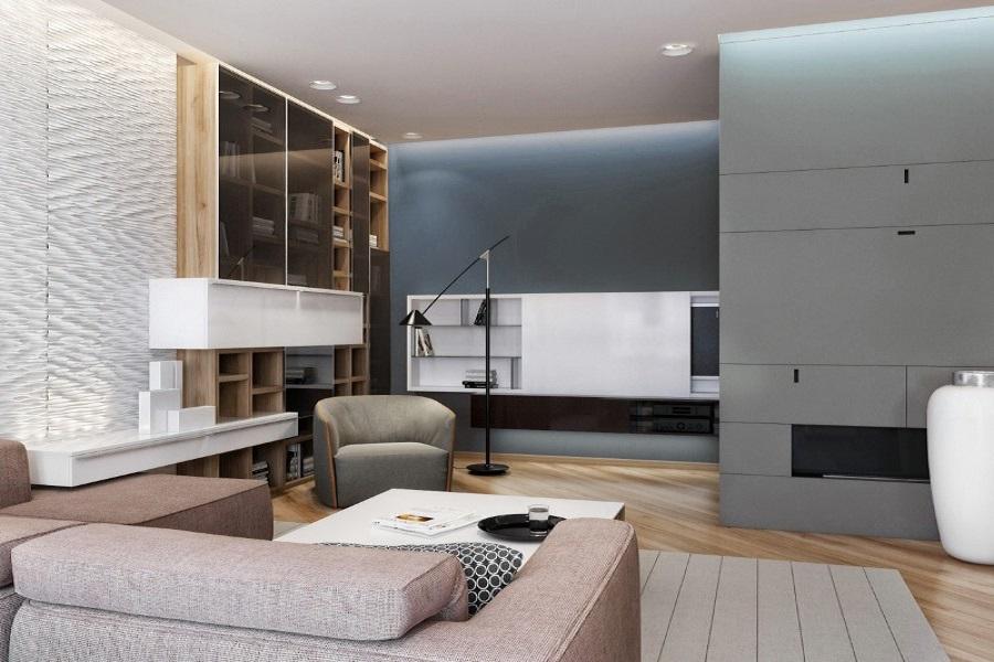 Design interior living si dormitor modern