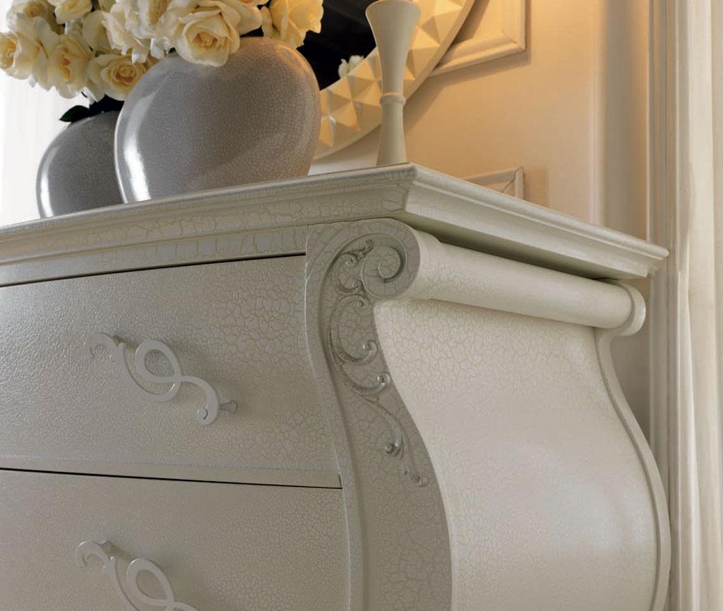 comoda dormitor lemn clasic Eros dormitoare albe italiene
