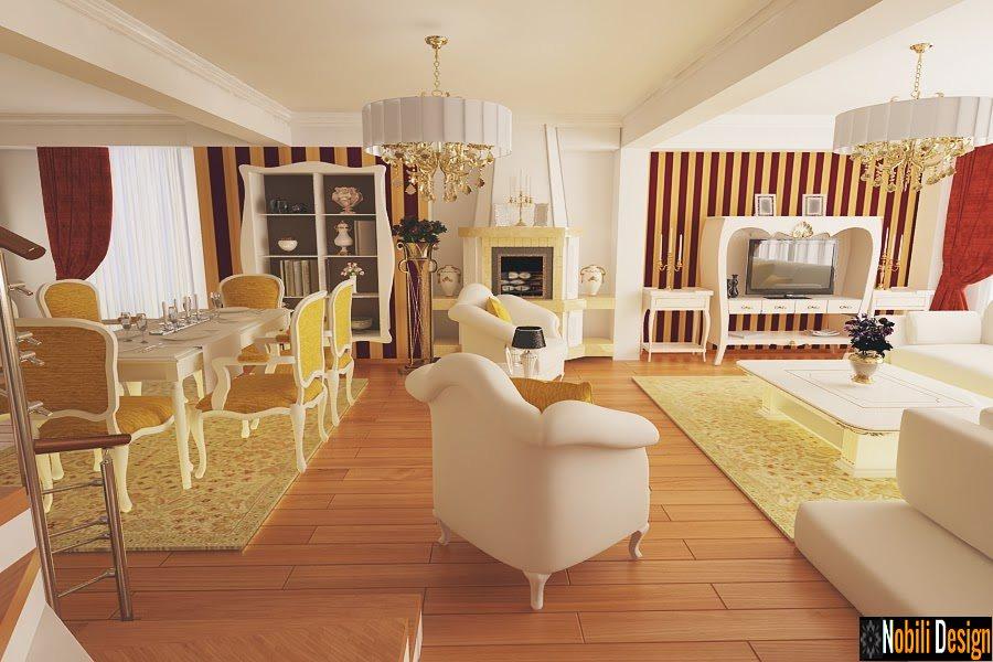 desig amenajari interior living vila de lux