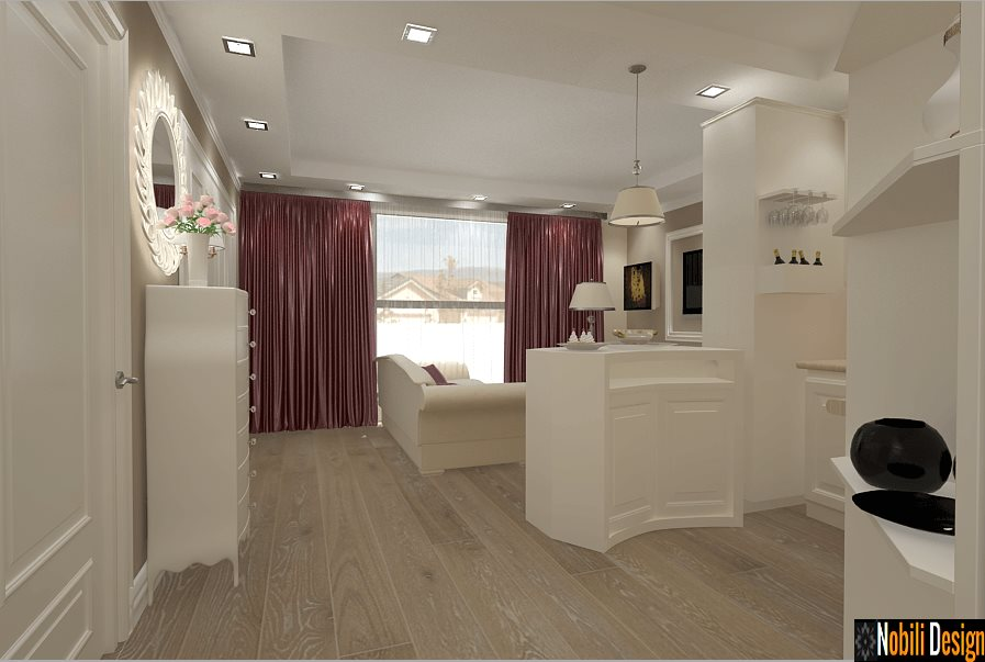 design interior apartament bucatarie cu living - constanta