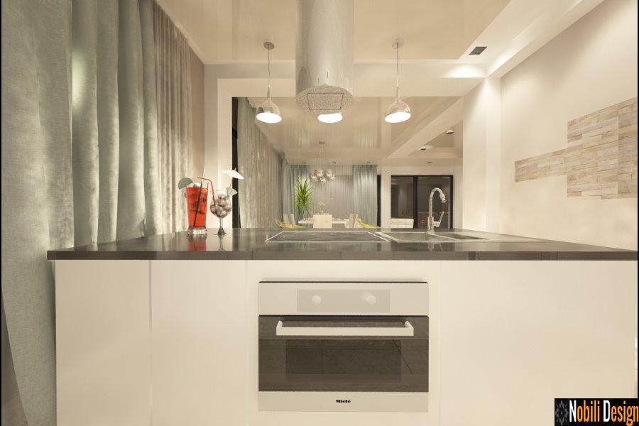 Design - interior - bucatarie - cu insula - casa - moderna - Brasov.