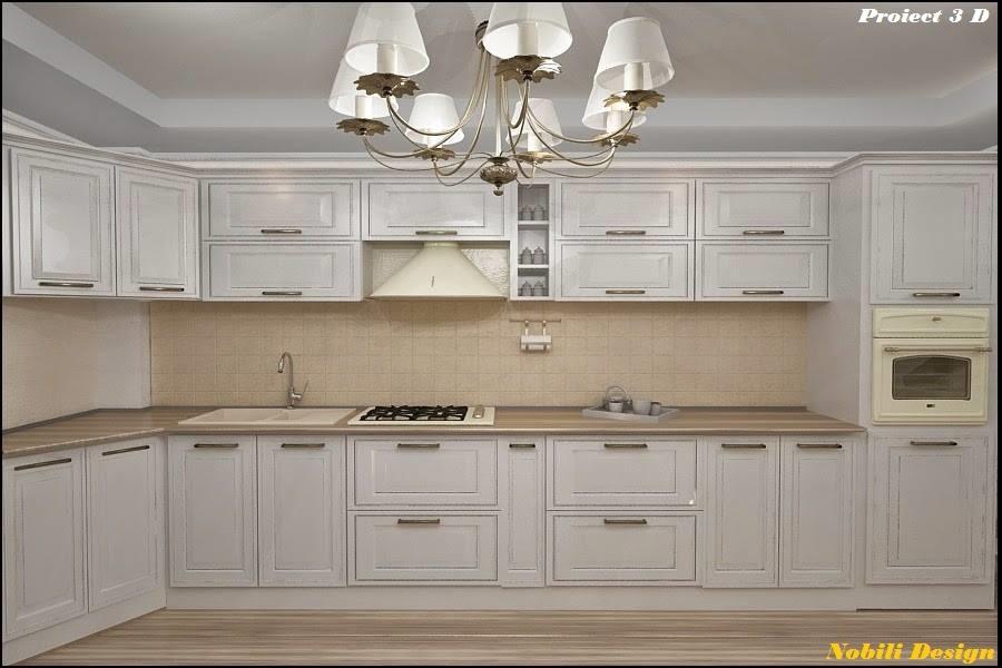 design interior bucatarie stil clasic 3 D