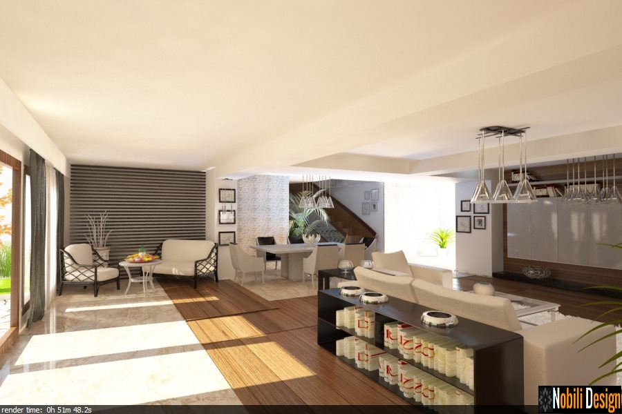 design interior casa moderna living open space - Bucuresti