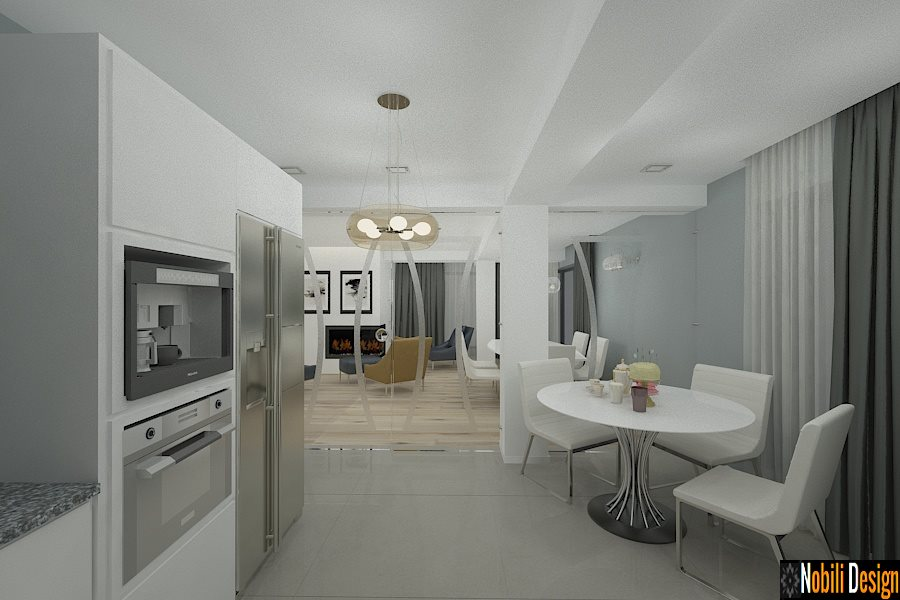 Design - interior - case - moderne| Amenajare - bucatarie - cu - living.