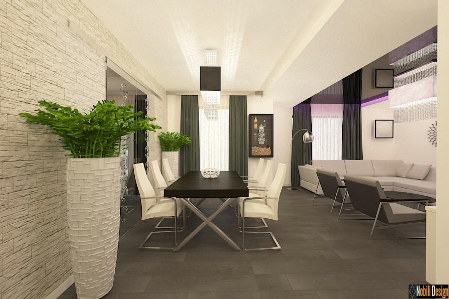 Design - interior - dining - vila - moderna - in - bucuresti| Amenajari - interioare - vile - cu - etaj - in - Bucuresti.