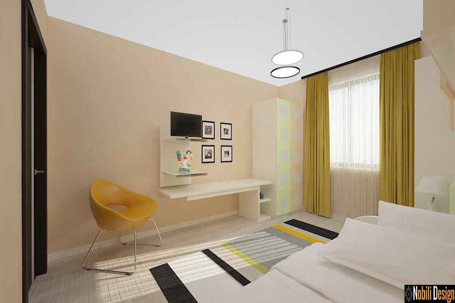 Design interior dormitor camera copii Sinaia.
