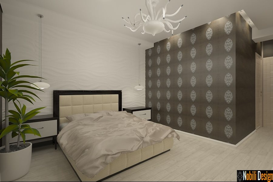 Design - interior - dormitor - casa - Brasov - Predeal - Romania.
