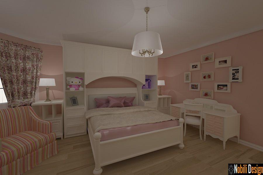 Design interior - dormitor - clasic - camera - copii - Bucuresti