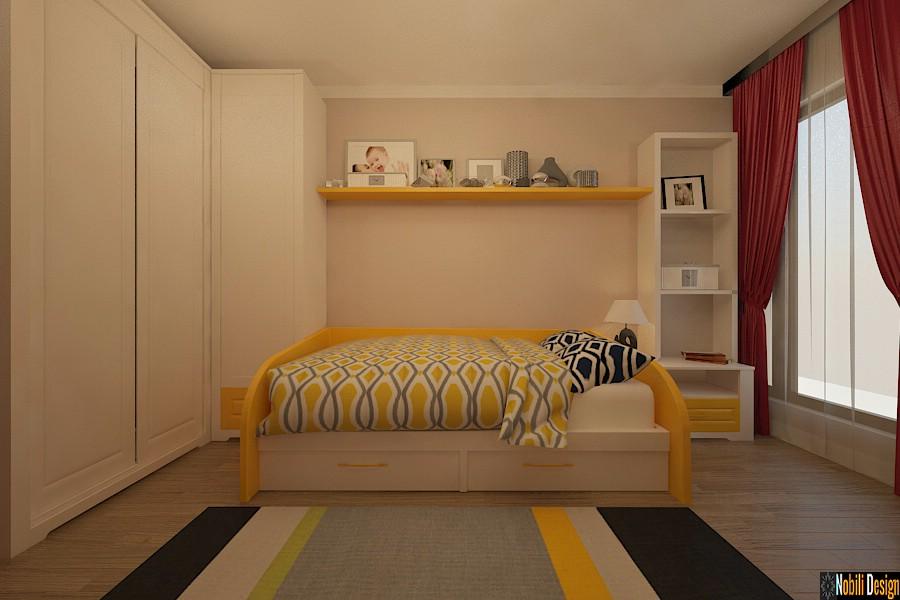 Design - interior - dormitor - copii - apartament - clasic - bucuresti.