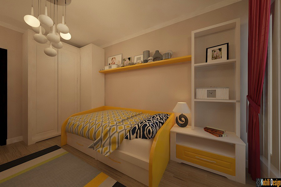 Design - interior - dormitor - copii - apartament - in - bucuresti - sector 6.