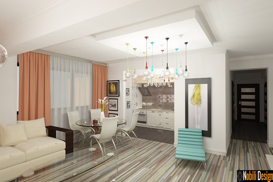 Design interior living apartament 4 camere