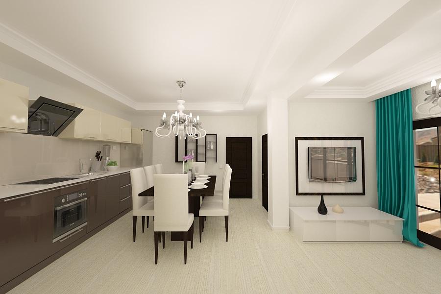 Design interior living cu bucatarie open space nobili interior - Design interior apartamente ...