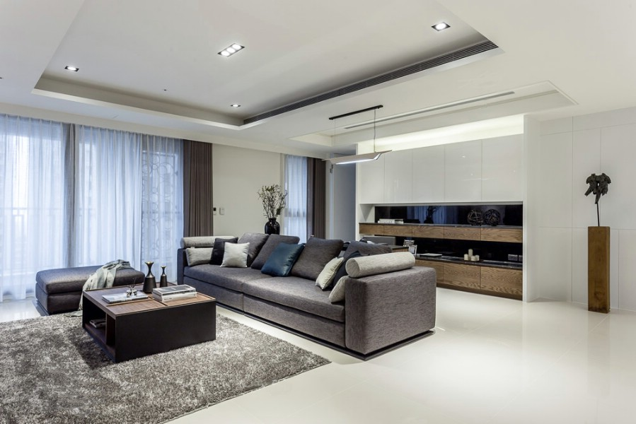 Design - interior-  living - casa - contemporana - in -  bucuresti.