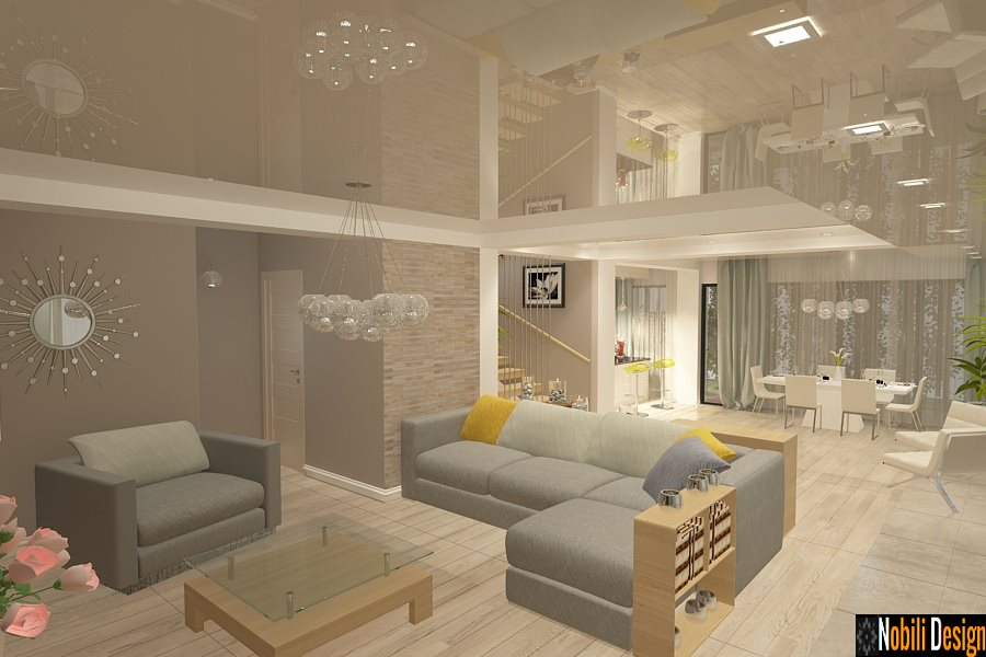 Design interior casa moderna constanta for Casa moderna living