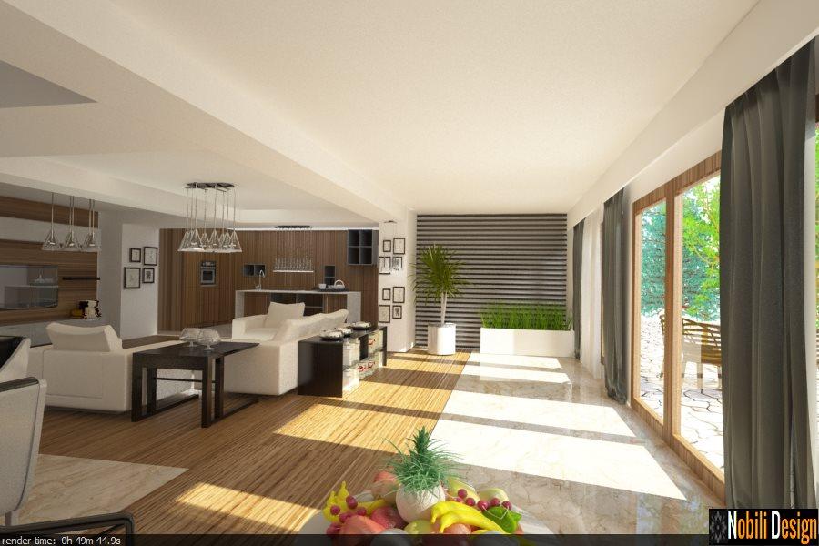 Design interior casa moderna bucuresti for Casa moderna living