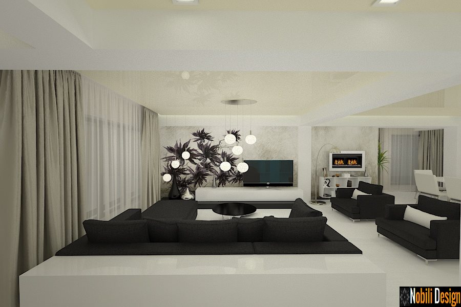 Design interior living casa moderna mamaia nord.