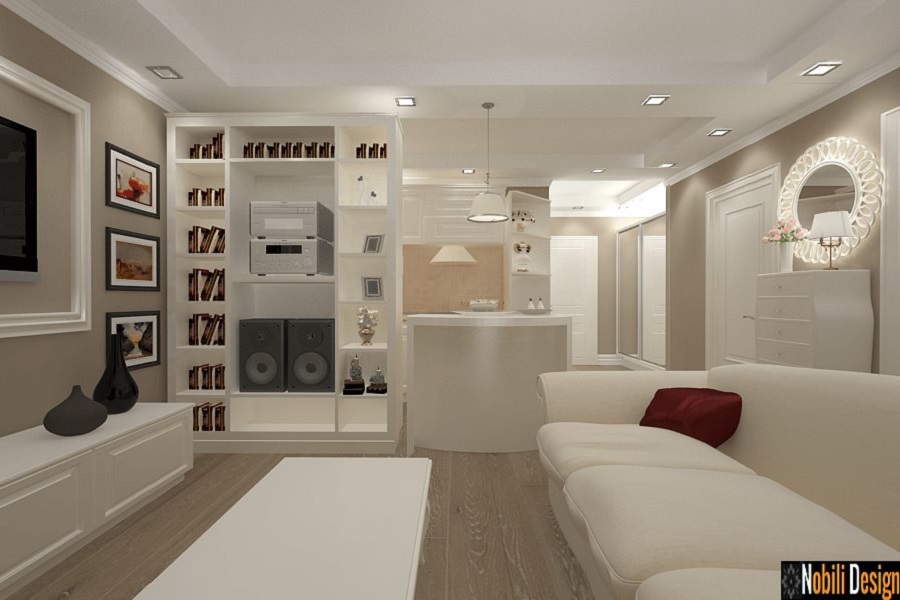 design interior living clasic de lux apartament