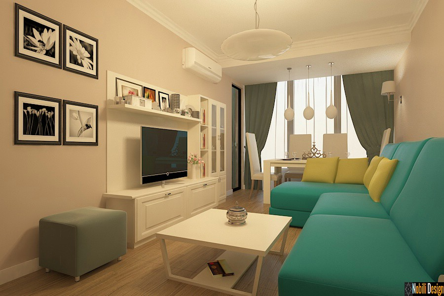 Design interior apartament 3 camere bucuresti for Casa moderna living