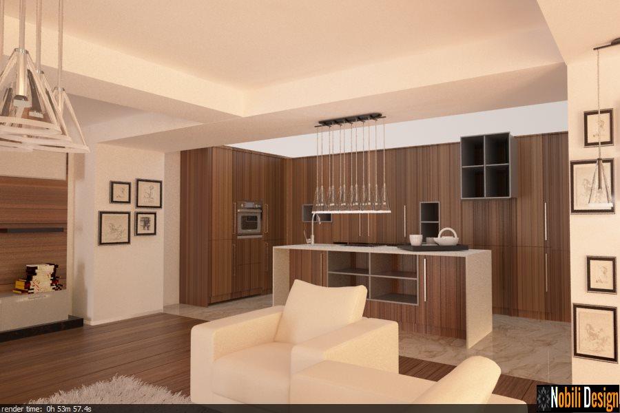 design interior living cu bucatarie bucuresti