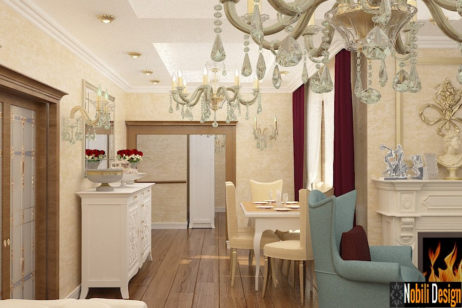 design interior living mobila italiana din lemn | Design - interior - living - casa - clasica - Constanta.