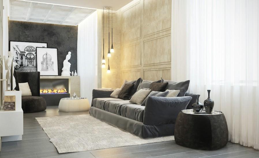 Design - interior - living - modern - Bucuresti - 2017.