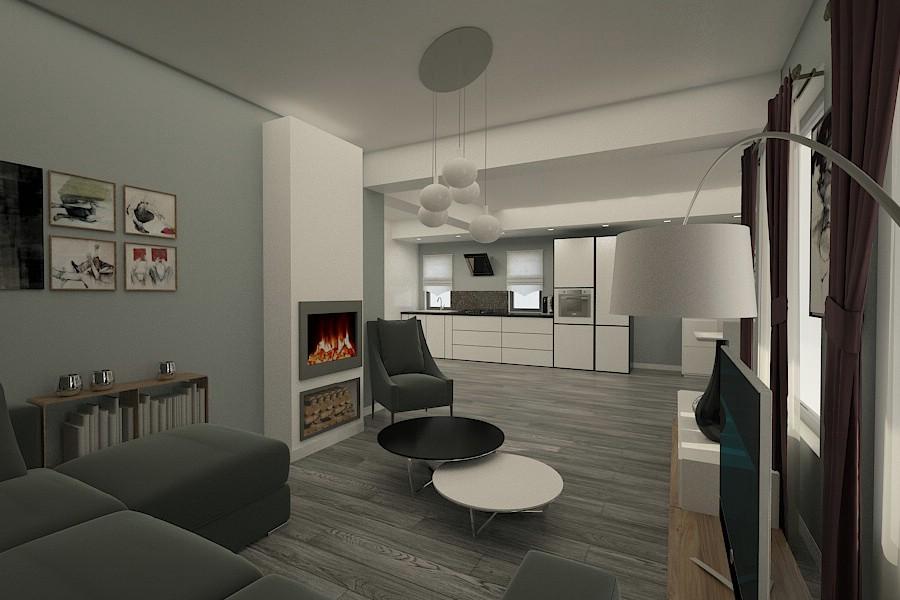 Design interior living casa moderna braila nobili for Case interior design