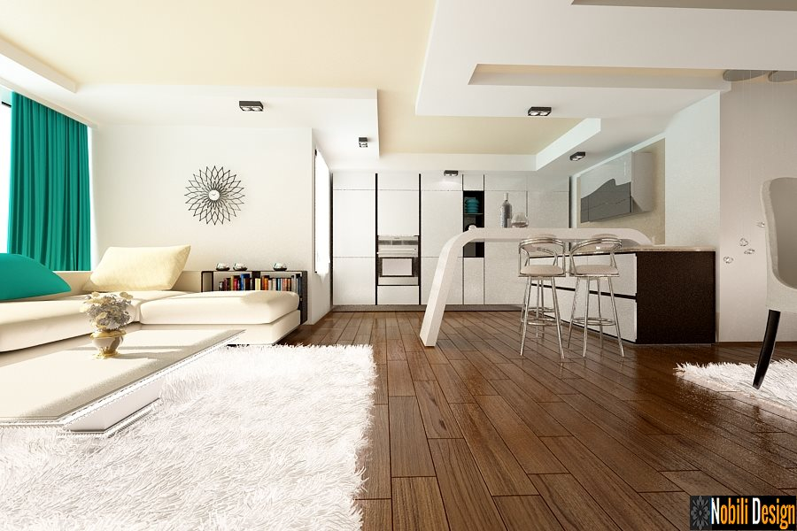 Design interioare living case vile moderne