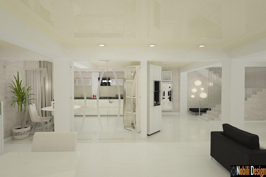 design interior living modern cu bucatarie