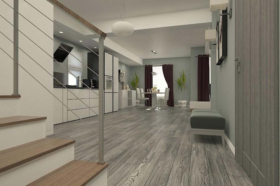 Design interior living casa moderna braila for Casa moderna open
