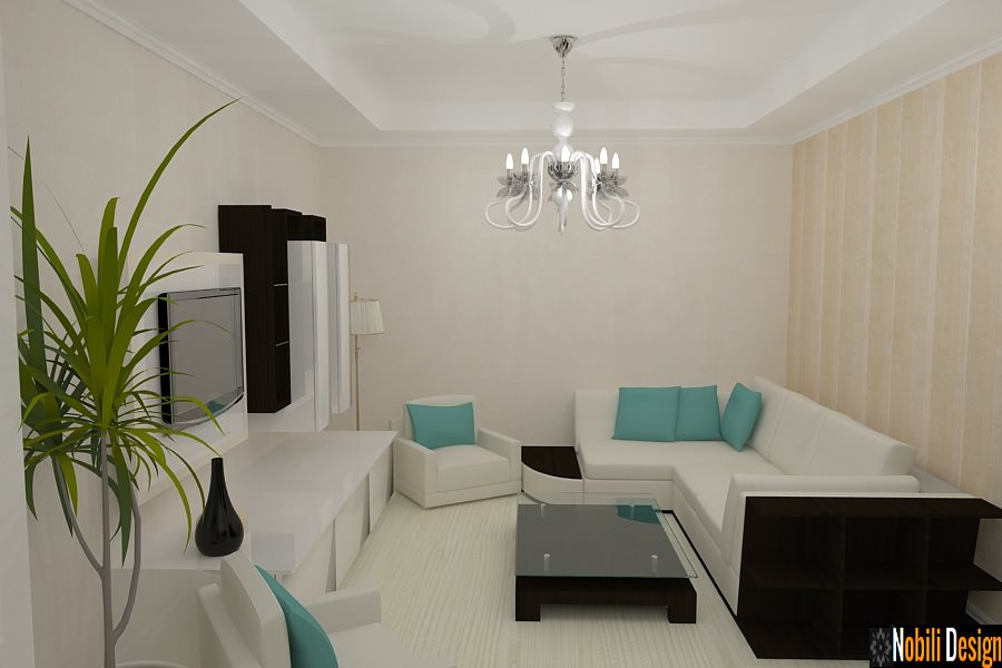 Design - interior - living - vila - Bucuresti