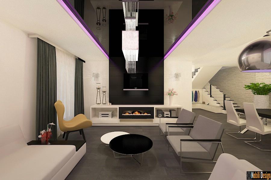 Design - interior - living - vila - de - lux - bucuresti| Amenajare - interioara - casa - moderna - in - Bucuresti.