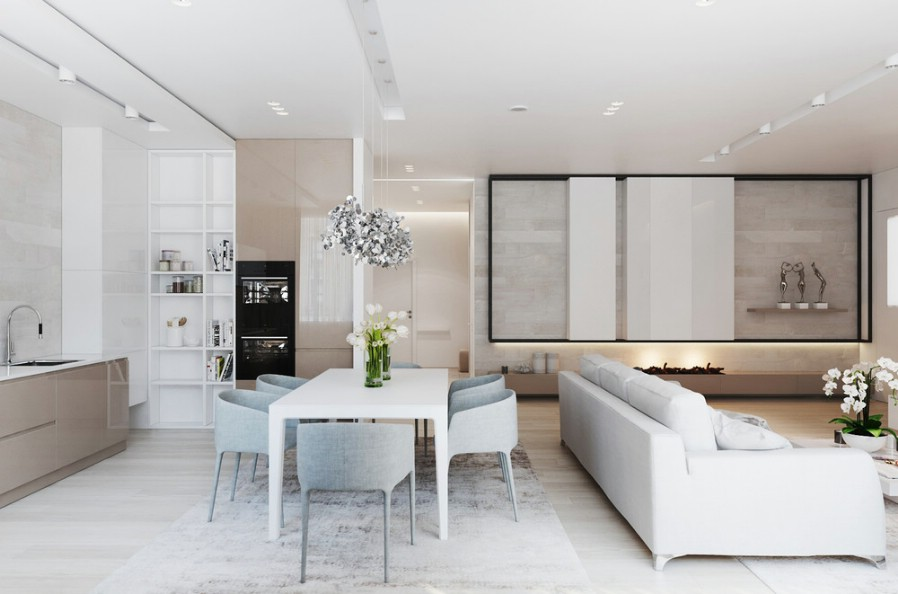Design interior living vila moderna - bucuresti 2017.